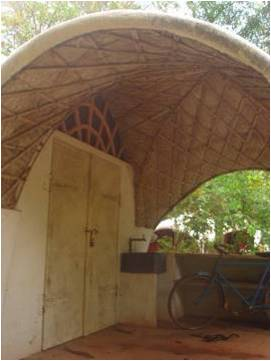Roofing with bamboo reinforced concrete auroville wiki for Bamboo roofing materials