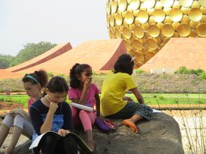 2016 Deepanam - writing at Matrimandir.JPG