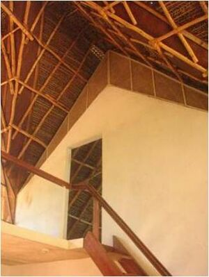 Roofing with bamboo and thatch auroville wiki for Bamboo roofing materials