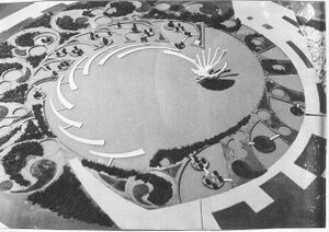 Galaxy model January 1968 - Matrimandir gardens.jpg