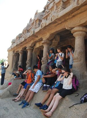 Deepanam 2018 - Faith 2 - Faith group trip to Mahaballipuram for art history classes.JPG