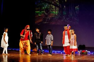 Auroville Theatre Group 2017 - Chetan, Kalou and children.jpg