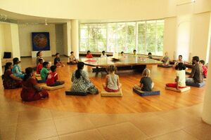 Unity Pavilion 2018 - Children meditating in Hall of Peace.jpg