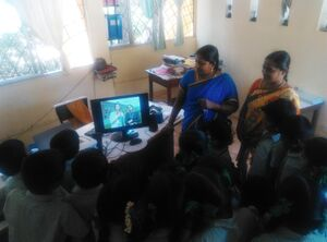 Aikiyam School 2019 - third graders video conferencing with U.S. pen pals.jpg