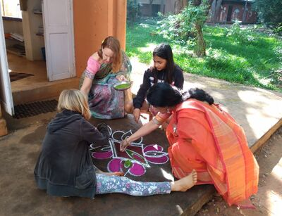 Deepanam 2020 4 - Grace group kolam making.jpg